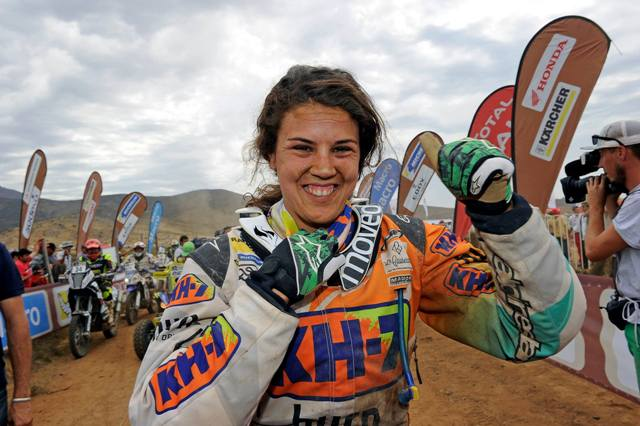 Laia Sanz - Motos Dakar 2014 / Foto: Facebook KH7 Sport