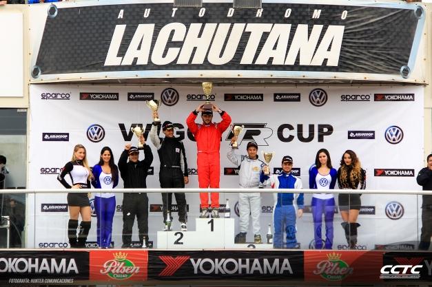 Podio VW Gol R Cup / Foto: Prensa  VW Gol R Cup