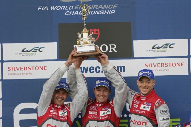 Benoît Tréluyer, Marcel Fässler, André Lotterer - Audi R18 e-tron quattro / Foto: Prensa Audi