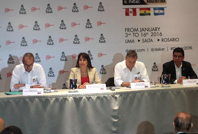 Presentación Rally Dakar 2016 en Perú / Foto. Prensa Dakar Perú