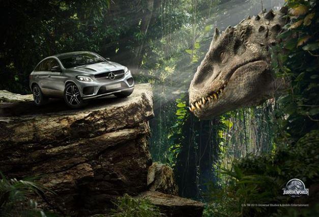 Nueva GLE Coupé  en Jurassic World / Foto: Prensa Mercedes Benz