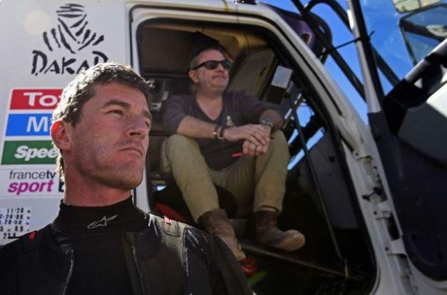 Dakar Rally director Etienne Lavigne & Marc Coma KTM's Spanish biker / Foto:  Franck Fife/AFP