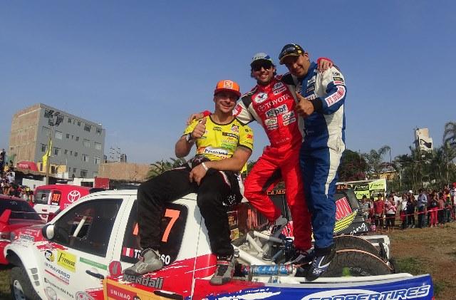 Mario Hart, Lucho Alayza y Nicolás Traverso - Rally ACP / Foto: Prensa ACP