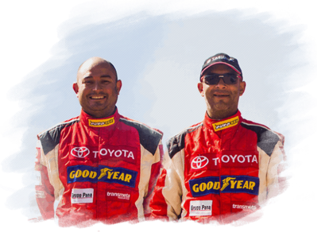 Diego Weber y Armando Sugobono - Team Toyota / Foto: Prensa Toyota