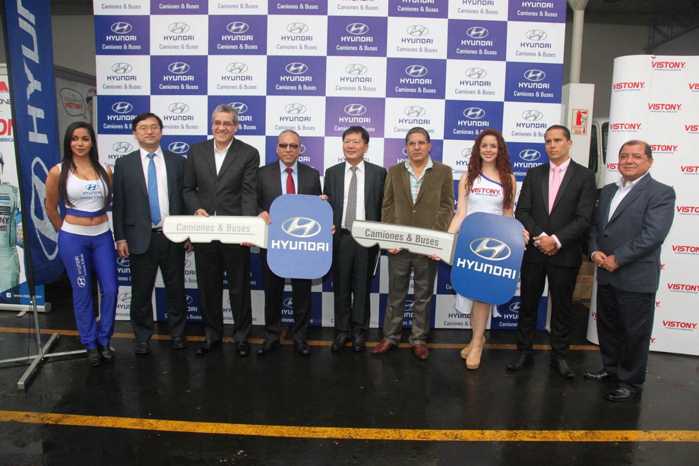 Hyundai Buses & Camiones entregó flota a Vistony / Foto: Prensa Hyundai