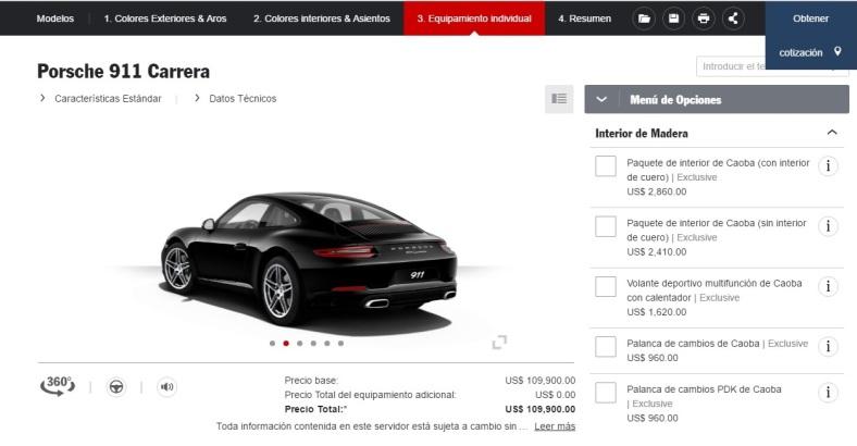 Porsche Car Configurator 03
