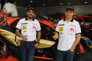 Juan Carlos Uribe y su navegante Javier Uribe están listo para el Dakar 2018 / Foto: Miguel Angel Rivadeneyra